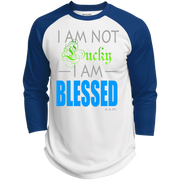 I AM NOT LUCKY, I AM BLESSED! Polyester Game Baseball Jersey