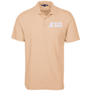 JESUS/Embroidered Stain Resistant Sport Shirt