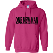 ONE NEW MAN HORIZONTAL!  Pullover Hoodie 8 oz