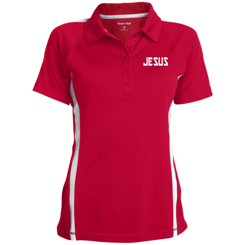 JESUS/Ladies' Custom Colorblock Three Button Polo