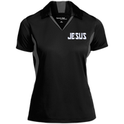 JESUS/Ladies Colorblock Performance Polo