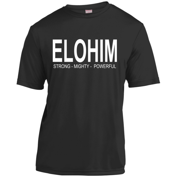Elohim, strong and powerful! YST350 Sport-Tek Youth Moisture-Wicking T-Shirt