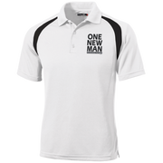 ONE NEW MAN!!  Moisture-Wicking Tag-Free Golf Shirt