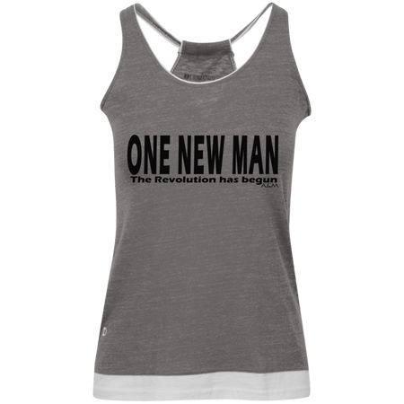 ONE NEW MAN HORIZONTAL! Juniors' Vintage Heathered Tank
