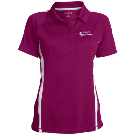 ÉQUIPE YESHUA !Ladies' Custom Colorblock Three Button Polo