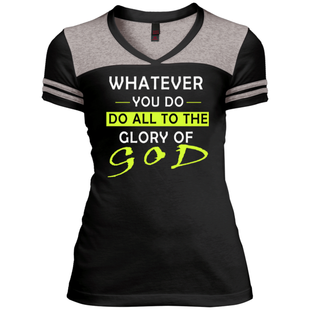 Whatever you do!  Juniors Varsity V-Neck Tee