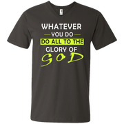 Whatever you do!  Men's Printed V-Neck T