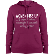 Women rise up fr Ps 68 verset!  LST254 Sport-Tek Ladies' Pullover Hooded Sweatshirt