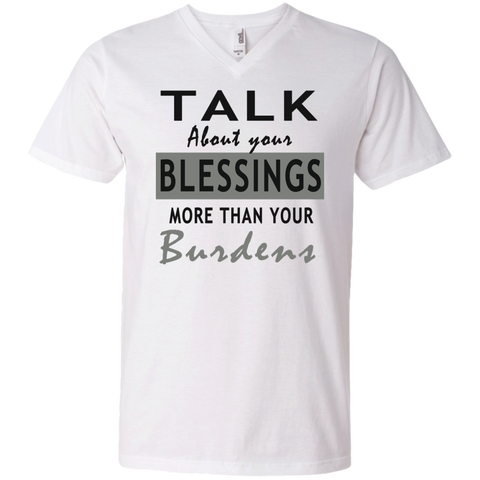 Talk about your blessing! Men's Printed V-Neck T