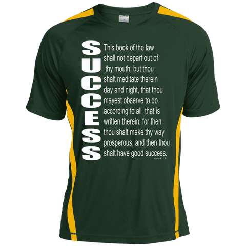 SUCCESS, (Josh 1.8)Tall Colorblock Competitor Tshirt
