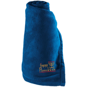 JOYEUX HANUKKAH!Large Fleece Blanket