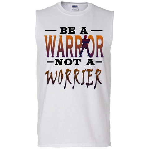 BE A WARRIOR! Men's Cotton Sleeveless Tee