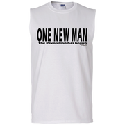 ONE NEW MAN HORIZONTAL!  Men's Cotton Sleeveless Tee