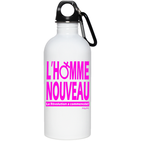 homme nouveau femme! 20 oz Stainless Steel Water Bottle