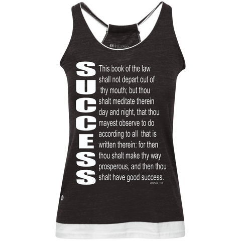 SUCCESS, (Josh 1.8) Juniors' Vintage Heathered Tank