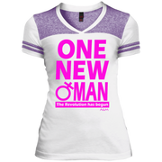 ONE NEW WOMAN! Juniors Varsity V-Neck Tee