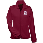 one new man white!Womens Fleece Jacket