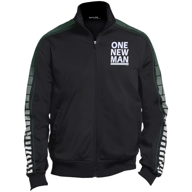 one new man white! Warm Up Jacket