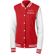 THANKFUL & BLESSED! LST270 Sport-Tek Women's Fleece Letterman Jacket
