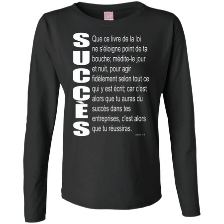 succès (Josué 1.8)Ladies Long Sleeve Cotton TShirt