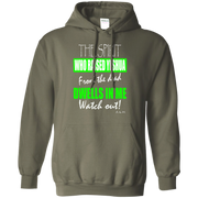 THE SPIRIT WHO RAISED YESHUA Pullover Hoodie 8 oz