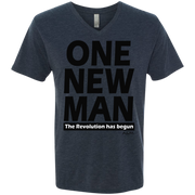 ONE NEW MAN!!  Men's Next Level Triblend V-Neck Tee