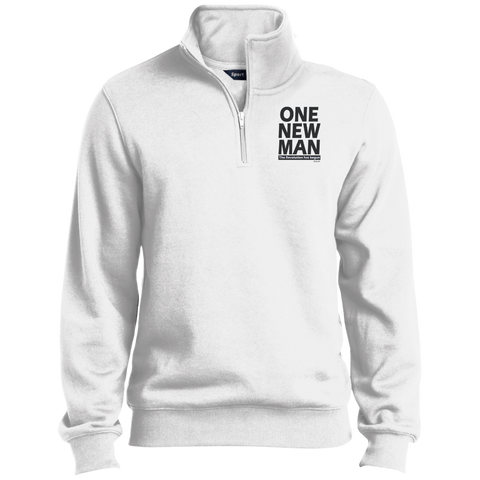 ONE NEW MAN!! Quarter-Zip Embroidered Sweatshirt