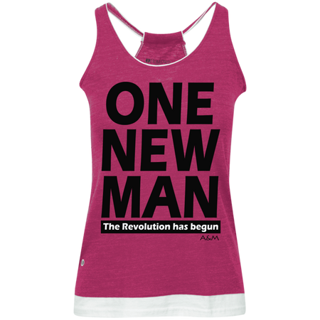 ONE NEW MAN!!  Juniors' Vintage Heathered Tank
