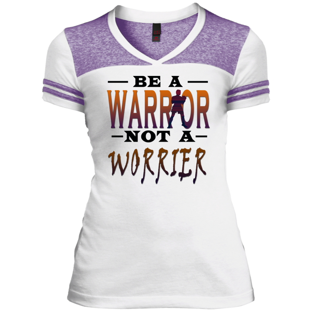 BE A WARRIOR! Juniors Varsity V-Neck Tee