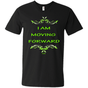 I AM MOVING FORWARD! Men's Printed V-Neck T