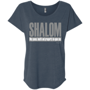 SHALOM ! NL6760 Next Level Ladies' Triblend Dolman Sleeve