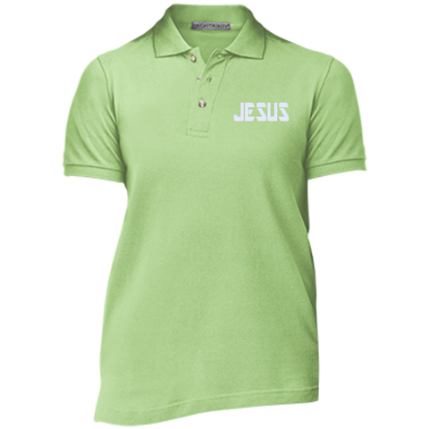 JESUS/Ladies' Cotton Pique Knit Polo