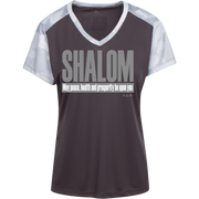 SHALOM ! LST371 Sport-Tek Ladies' CamoHex Colorblock T-Shirt