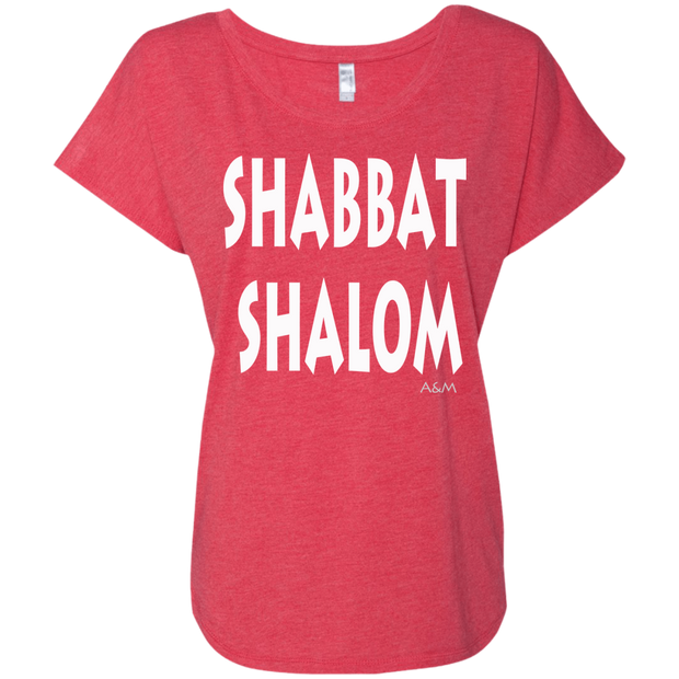 SHABBAT SHALOM! Next Level Ladies Triblend Dolman Sleeve