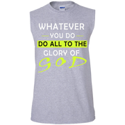Whatever you do! Men's Cotton Sleeveless Tee