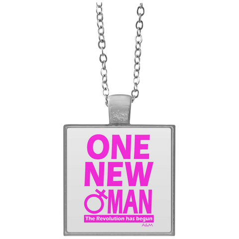 ONE NEW WOMAN!  Square Necklace