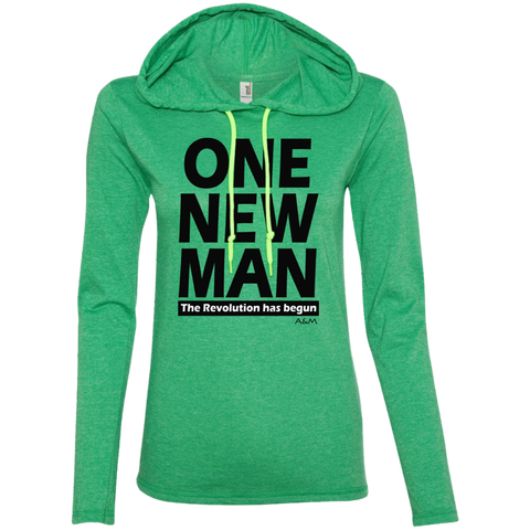 ONE NEW MAN!! Ladies LS T-Shirt Hoodie