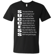 SUCCESS, (Josh 1.8)Men's Printed V-Neck T