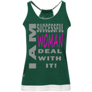 I am successful woman!Juniors' Vintage Heathered Tank