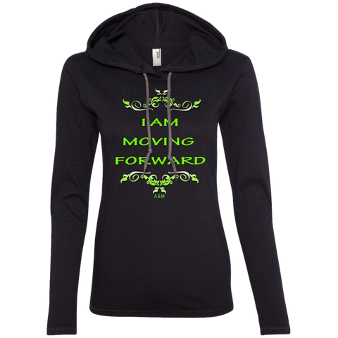 I AM MOVING FORWARD! Ladies' LS T-Shirt Hoodie