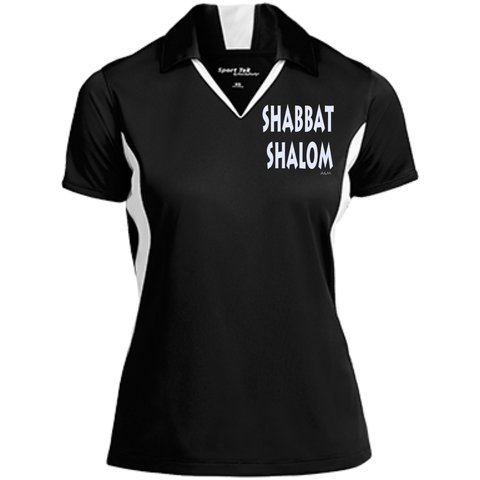 SHABBAT SHALOM! Ladies Colorblock Performance Polo