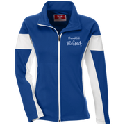 THANKFUL & BLESSED! TT34W Team 365 Ladies' Performance Colorblock Full Zip