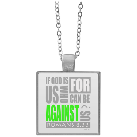 IF GOD IS FOR US!  Square Necklace