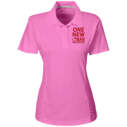 ONE NEW WOMAN! Team 365 Ladies Solid Performance Polo