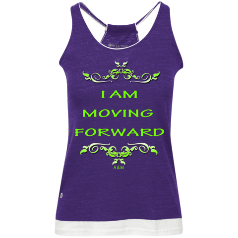 I AM MOVING FORWARD! Junior's Vintage Heathered Tank