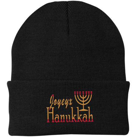 JOYEUX HANUKKAH! One Size Fits Most Knit Cap