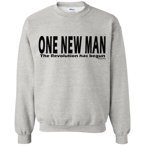 ONE NEW MAN HORIZONTAL! Crewneck Pullover Sweatshirt  8 oz