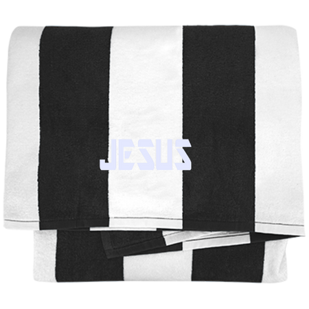 Jesus/Cabana Stripe Beach Towel