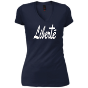 liberte! Junior Vintage Wash V-neck Tee