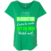 L'ESPRIT QUI A RESSUSCITÉ YESHUA! Next Level Ladies Triblend Dolman Sleeve
